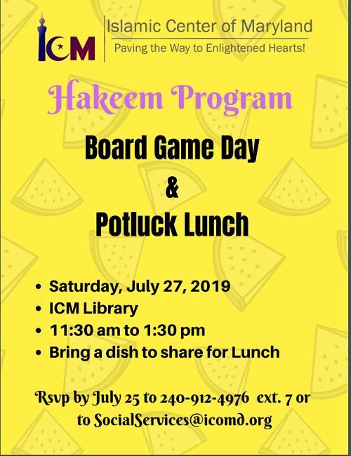 ICM Hakeem Program, July 2019