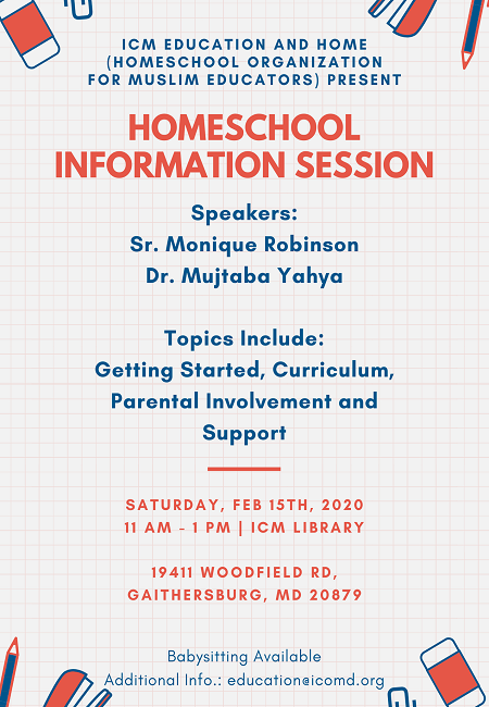 Information Session About Homeschooling