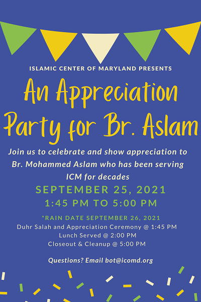 An Appreciation Ceremony For Br. Aslam