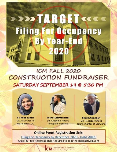 Construstion Fundraiser Fall 2020