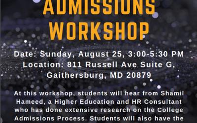 Free College Admissions Workshop