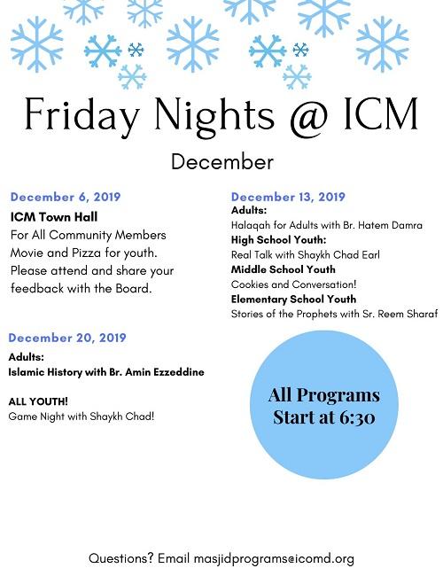 Friday Nights At ICM December 2019