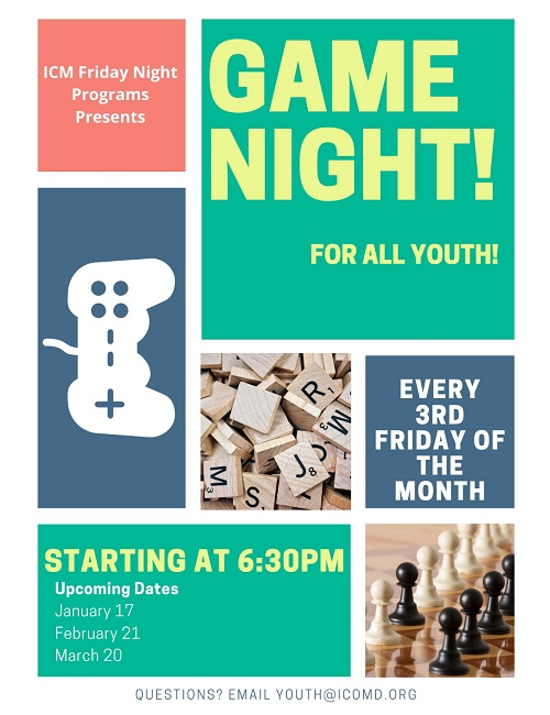 Game Night! Come Join Us At ICM