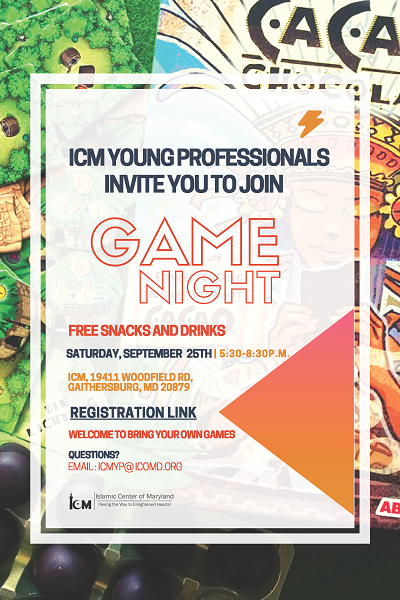 ICM YP Invites You To Join Game Night
