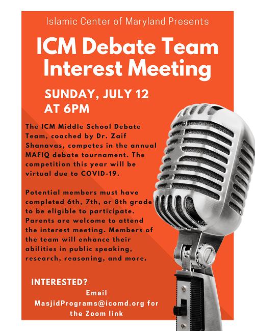 ICM Debate Team Interest Meeting