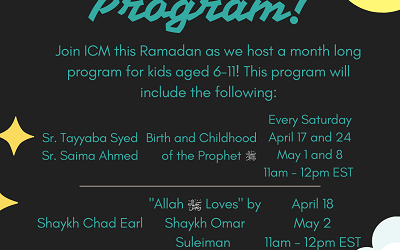 Ramadan Kids Program By ICM!