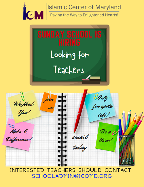Teachers Needed For ICM Sunday School