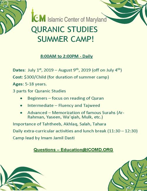 ICM Summer Quran Camp 2019