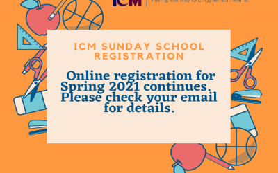 Registration Is Open For ICM Sunday School!