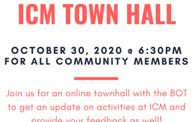 ICM Town Hall Meeting Online
