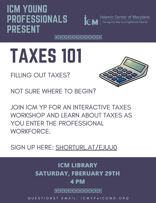 ICM YP Presents Taxes 101