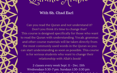 Introduction To Quranic Arabic