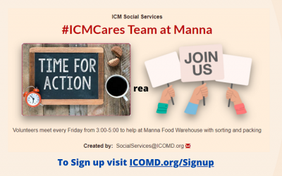 Join #ICMCares Team @ Manna To Volunteer
