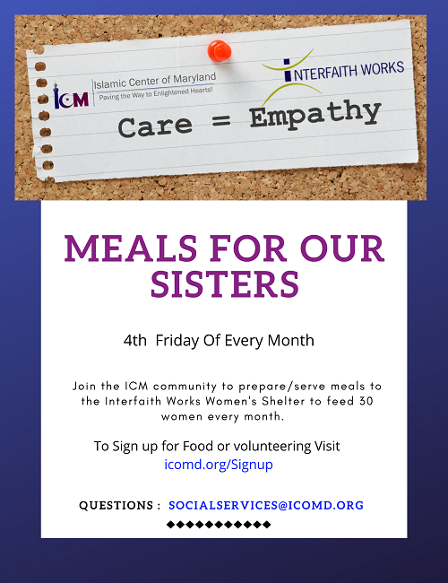 Social Services: Meals for Our Sisters