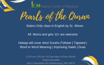 Sisters Halaqa: Pearls of the Quran