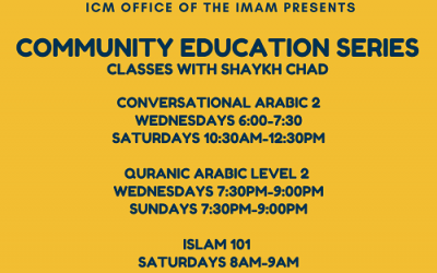 Classes With Shaykh Chad Earl