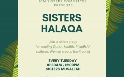 Sisters Halaqa: Every Tuesday