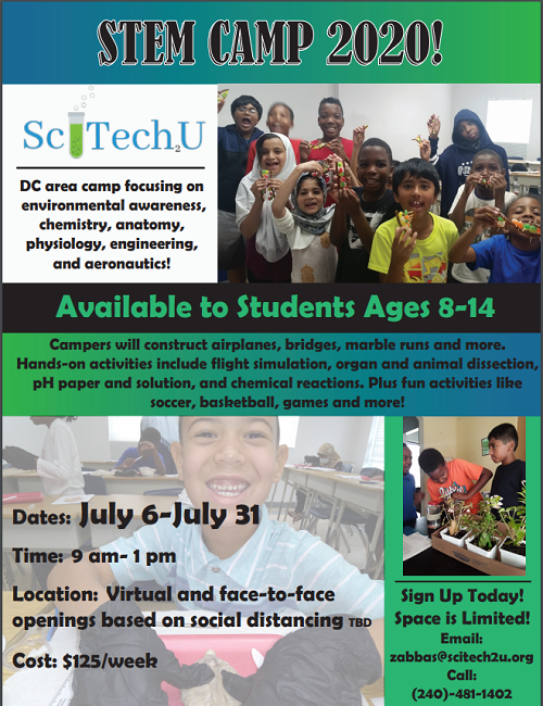 Stem Camp 2020: Space Is Limited!