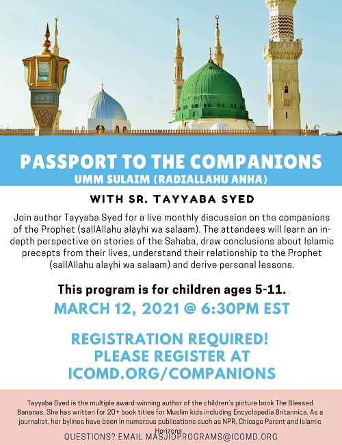 Companions Series With Sr. Tayyaba Syed