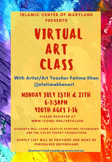 ICM Presents Virtual Fun Art Class