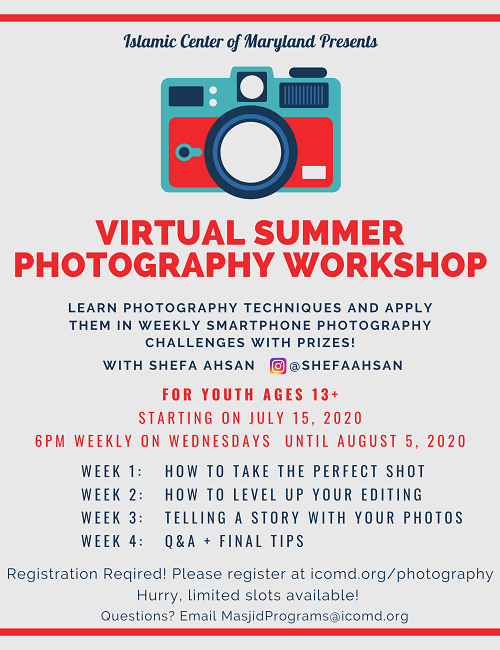 Virtual Summer Photography Workshop