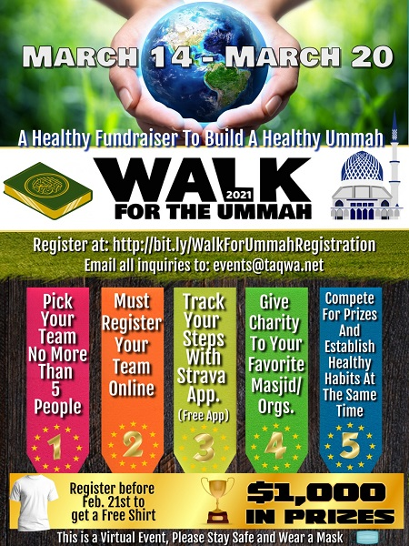 Walk For The Ummah Fundraiser 2021