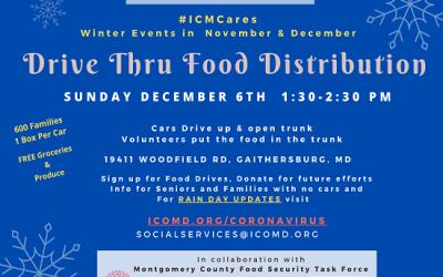 Winter Drive Thru Food Distribution