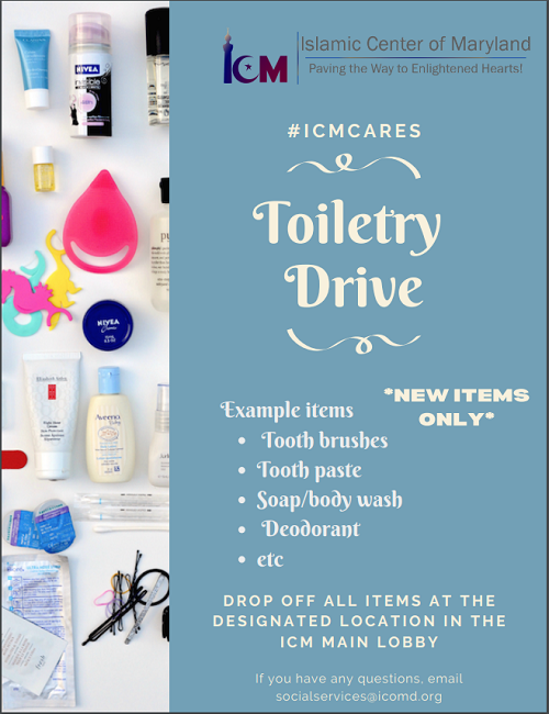 ICM Social Service Toiletry Drive