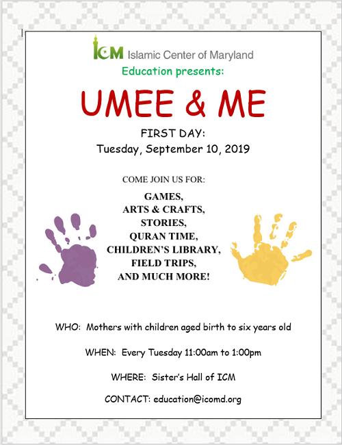 Umee & Me Every Tuesday: Register Here